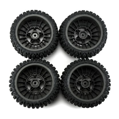 Arrma Senton 3S BLX DBoots Fortress SC Tires and Gun Metal Wheels ARA550087