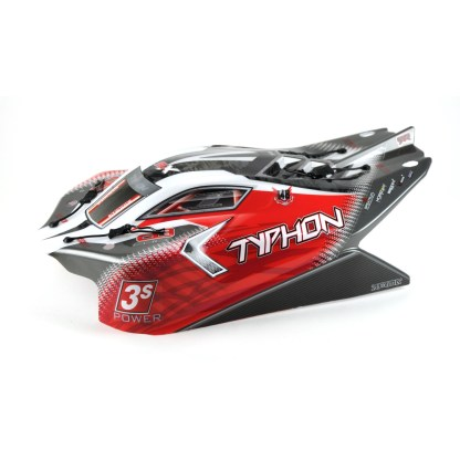 Arrma Typhon V3 4X4 3S BLX Painted Decaled Trimmed Body Shell (Red)