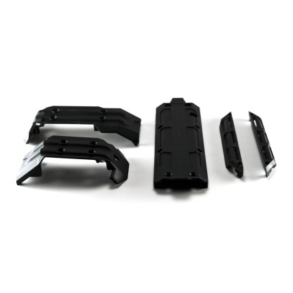 Traxxas 1/10 Maxx Front Rear Center Skid Plate Chassis Nerf Bars Skidplate Set