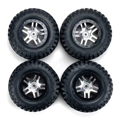 Traxxas Slash 4X4 VXL Factory Mounted SCT Split Spoke Wheels BF Goodrich Tires