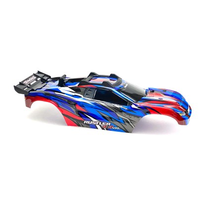 Traxxas Rustler 4X4 VXL Blue/Red Body Shell w/ Clipless Mounting