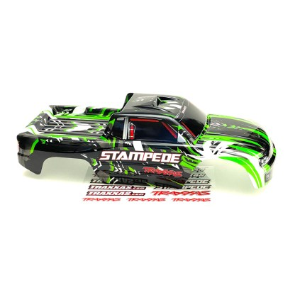 Traxxas Stampede 2WD XL-5 Body Shell Green Black Factory Painted Decaled