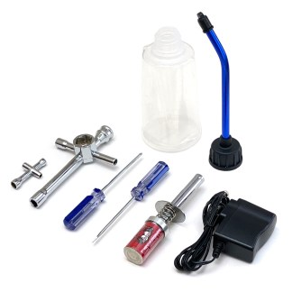 Redcat Racing Nitro R/C Starter Kit Tools Fuel Bottle Glow Plug Igniter 80142A