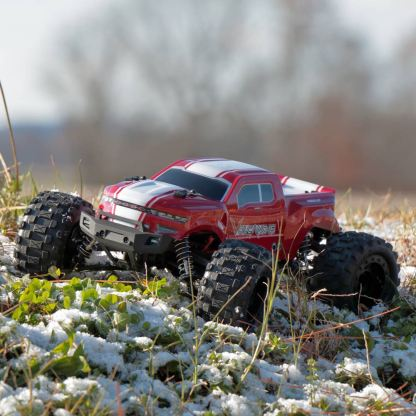 Redcat Racing Volcano-16 1/16 Scale Brushed Electric Monster RTR R/C Truck Red