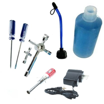 Redcat Racing Nitro R/C Starter Kit Tools Fuel Bottle Glow Plug Igniter