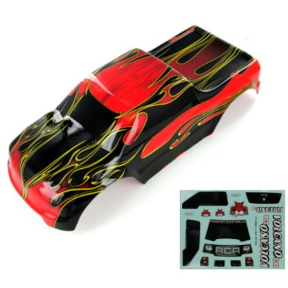 Redcat Racing Volcano EPX/EPX PRO/S30 1/10 Truck Body Red Flame 88049-R