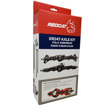 Redcat Wendigo XR247 Pre Assembled Axle Kit F&R HD Trussed Axles RER13033