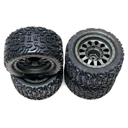 Arrma Vorteks 3S BLX 4X4 Wheels & Tires dBoots Katar Tire Set Glued ARA550091