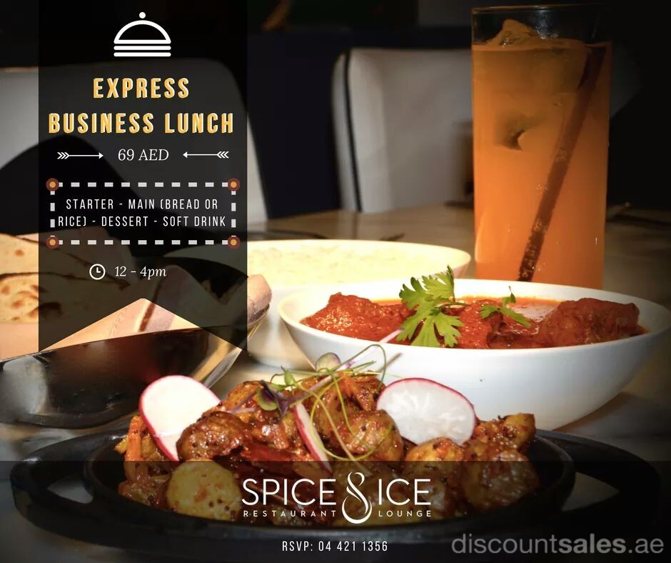 Express Business Lunch at Spice & Ice JLT