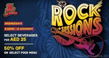 Huddle's Rock Sessions Offer