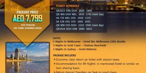 Australia Tour Package Offer