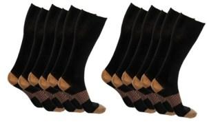 5 pack Copper-Infused Compression Socks