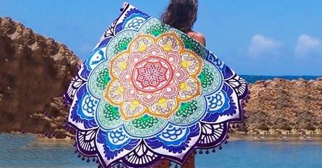 Lotus Flower Beach Blanket