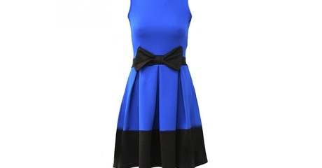 Contrast Bow Dress