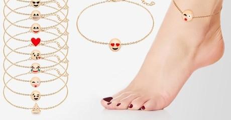 Emoji Charm Anklet