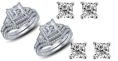 Ring or Earrings with Swarovski Zircon