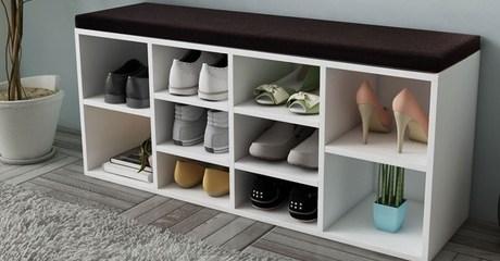 Siena 10-Pair Shoe Storage Bench