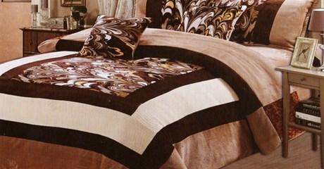 Six-Piece Suede Comforter Set