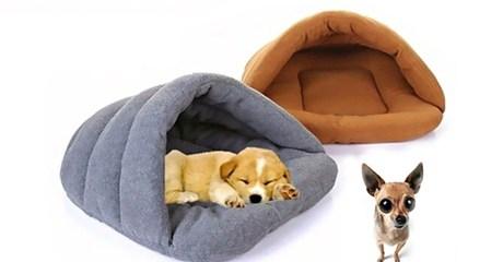 Igloo-Style Polar Fleece Pet Bed