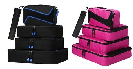 4-Pcs Travel Packing Organizer Set