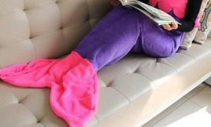 Mermaid Tail Fleece Blanket