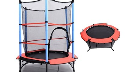 Trampoline with Removable Net