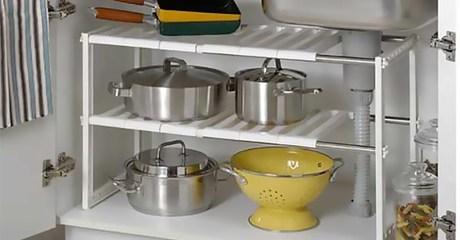 Adjustable Kitchen Organiser Rack