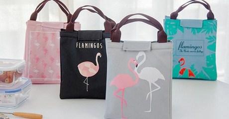 Flamingo Tote Lunch Bag