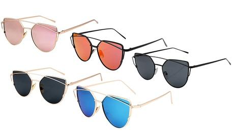 Cat-Eye Mirror-Effect Sunglasses
