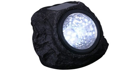 Solar-Powered LED Rocks