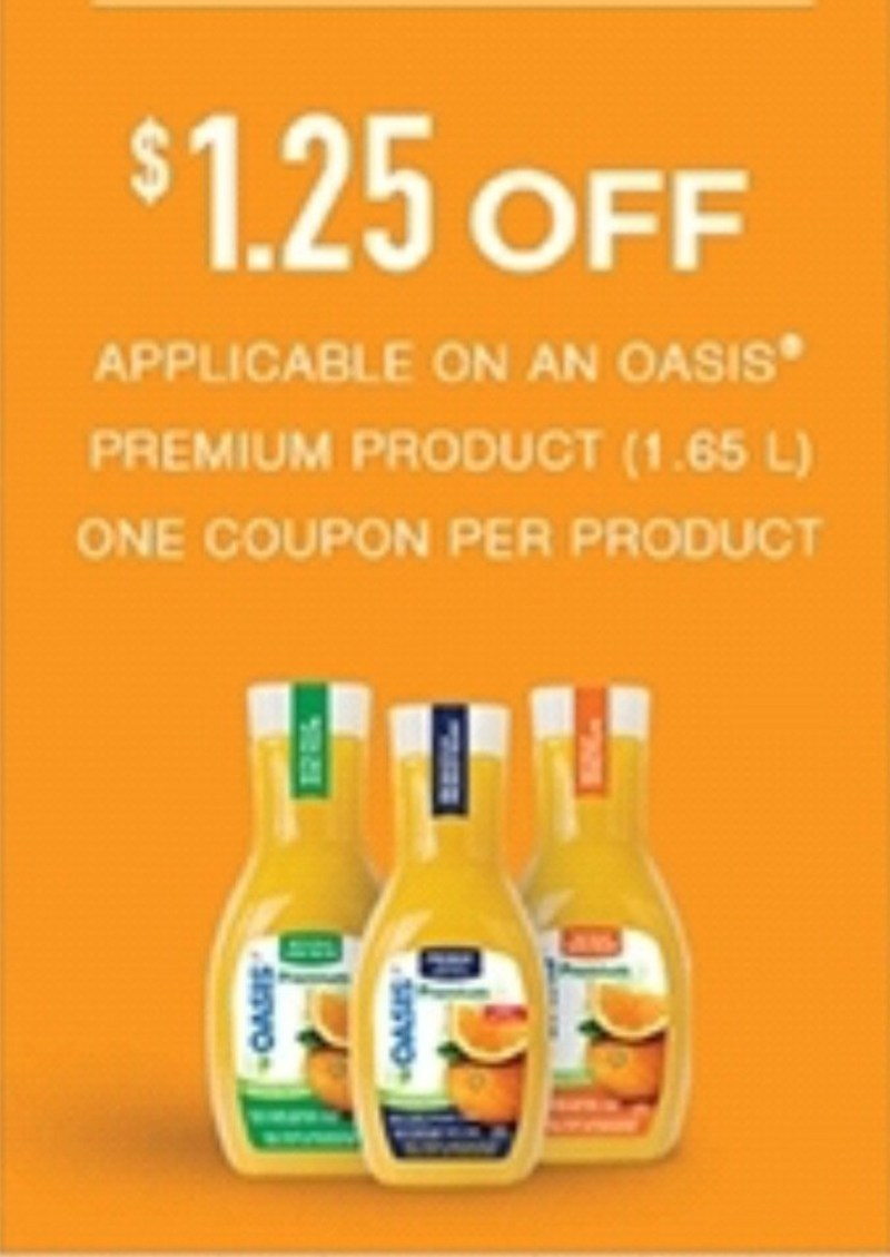 Great Print Coupon For Oasis Juice!!!! ⋆ Discounts and ...
