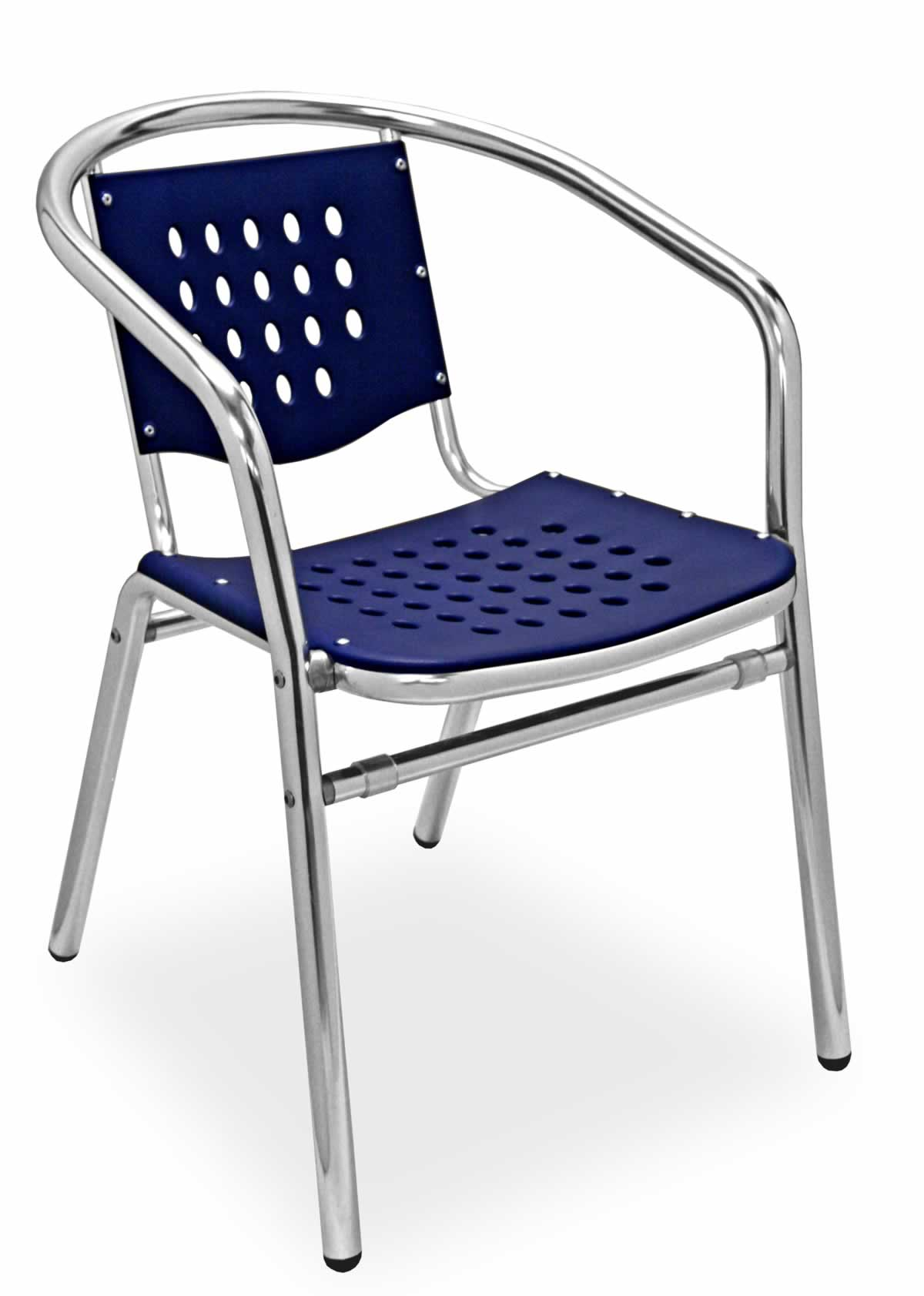 Aluminum Chairs Aluminum Frame Plastic Seat Arm Chair Sa03c Commercial
