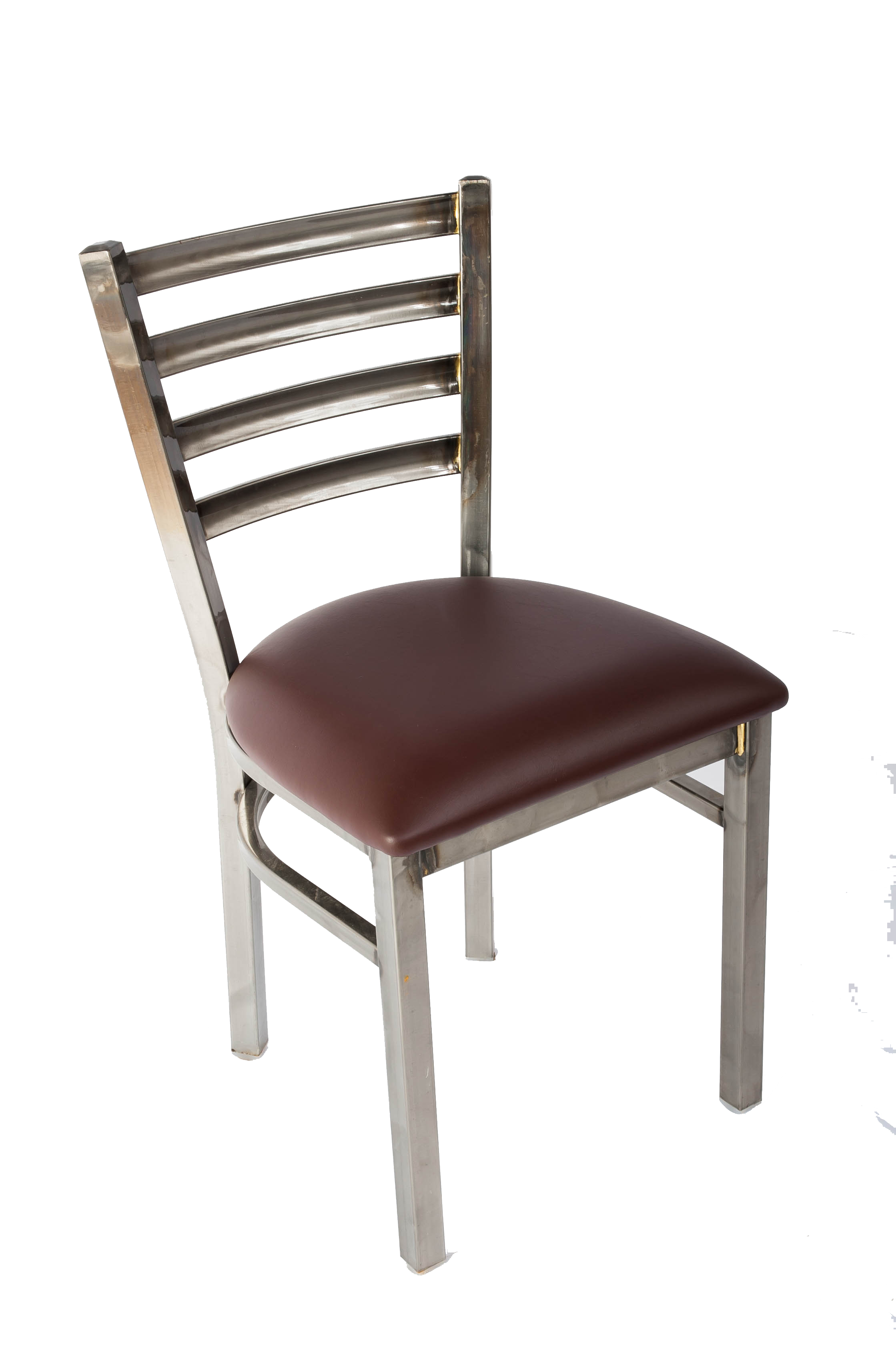 White Ladder Back Chair White Horse Clear Coat Ladder Back Side Chair J1001cc