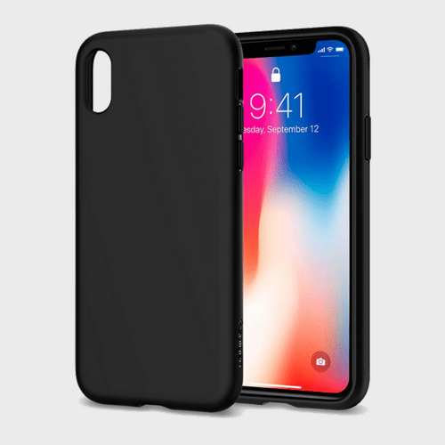 Spigen iPhone X Case Liquid Crystal Matte Black price in Qatar souq