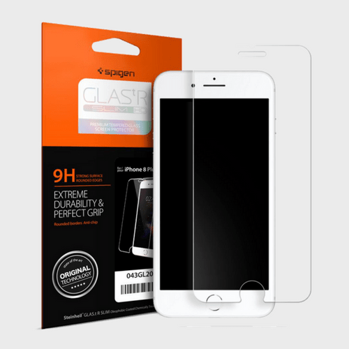 Spigen iPhone 8 Plus Screen Protector GLAS.tR SLIM HD price in Qatar