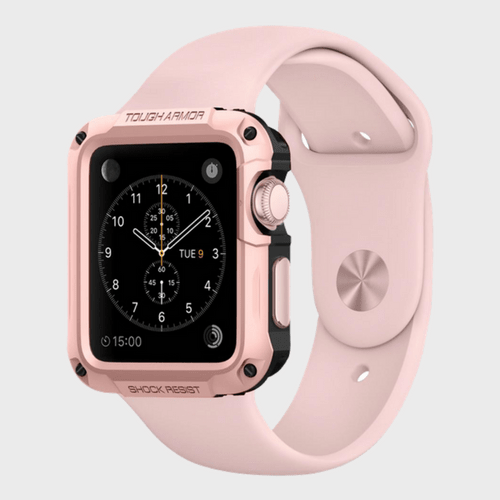 Spigen Apple Watch Series 2 (42mm) Tough Armor Rose Gold Best Price in Qatar and Doha Carrefour