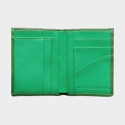 Goldblack Bifold Slim Wallet Unico Green price in Qatar souq