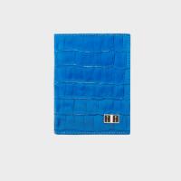 Goldblack Bifold Slim Wallet Croco Blue price in Qatar