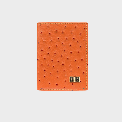 Goldblack Bifold Slim Wallet Ostrich Orange price in Qatar