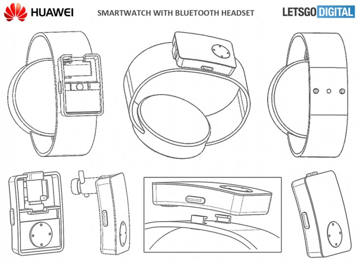 Huawei patents smartwatch with Bluetooth earbuds holster