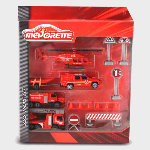 Majorette Die Cast Theme Set Fire S.O.S 212058581 Price in Qatar
