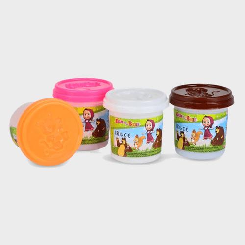 Masha And The Bear - Masha Soft Dough 4 Color Set 9302509 Price in Qatar