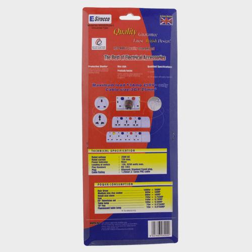 Sirocco Extension Socket 3way 2Mtr W03S Price in Qatar lulu