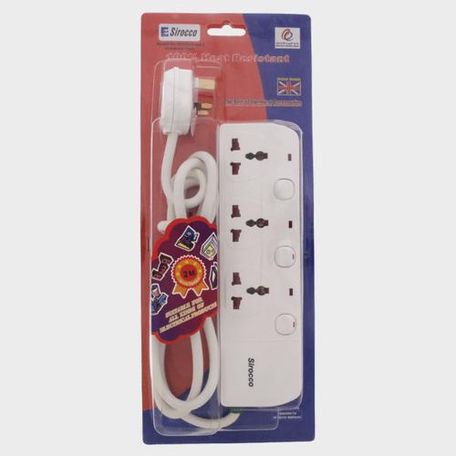 Sirocco Extension Socket 3way 2Mtr W03S Price in Qatar