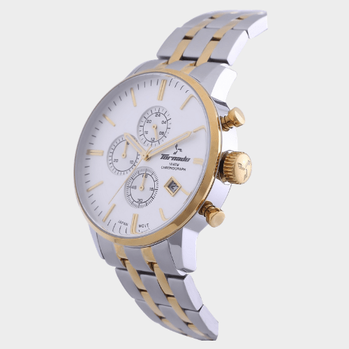 Tornado Men's Chronograph Watch Silver Dial Stainless Steel Band T6102-GBTSG price in Qatar lulu