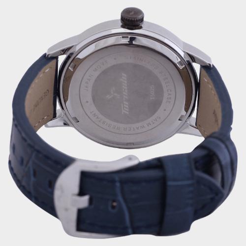 Tornado Men's Analog Watch Silver Dial Leather Band T5025-SLJS price in Qatar lulu
