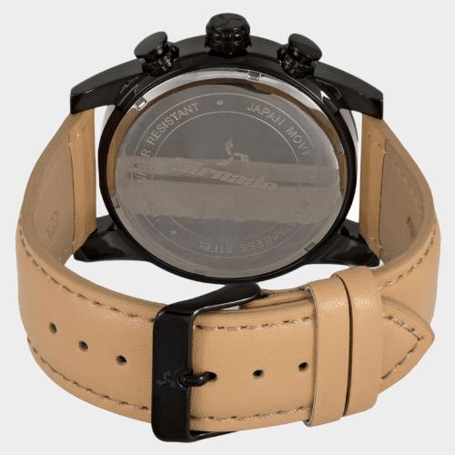 Tornado Men's Multi-Function Black Dial Leather Band Watch- T5193-BLCB price in Qatar souq