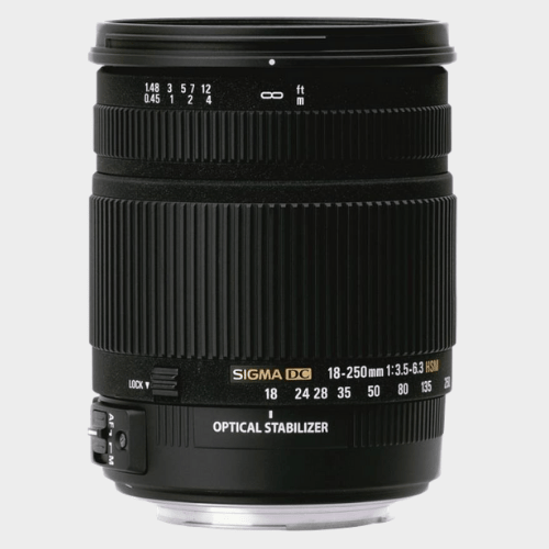 Sigma 18 - 250 mm F3.5-6.3 DC Macro OS HSM for Canon Digital SLR Lens price in Qatar