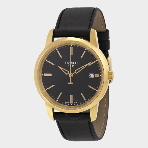 Tissot Classic Dream Black Dial Leather Mens Watch - T0334103605101 Price in Qatar