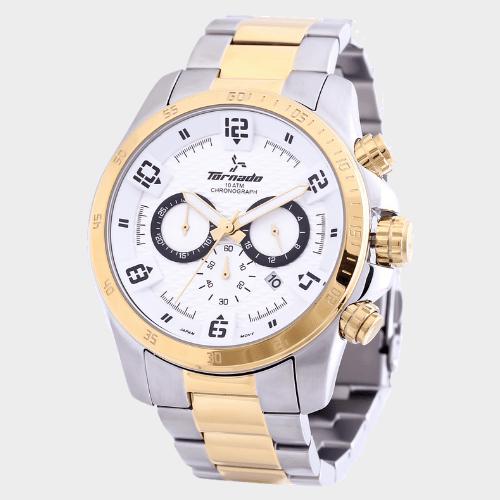 Tornado Men's Chronograph Watch White Dial T3149-TBTWB price in Qatar
